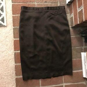 BCBG Max Azria Brown Pencil Skirt 4